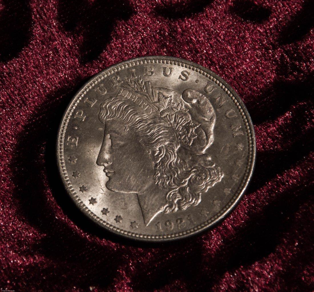 1921 Silver Morgan Dollar US Coin