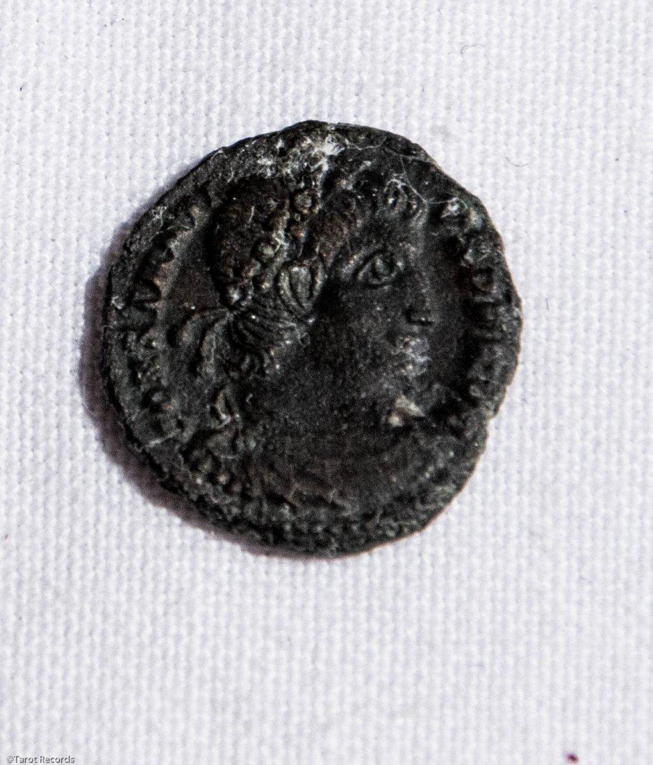 Constantius II AE16. Siscia Palm/€SIS. Roman Coin