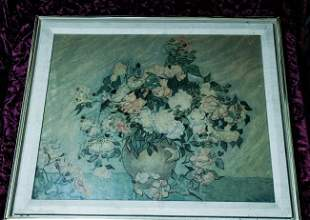 Van Gogh Print (Pink and White Roses) New York Graphic