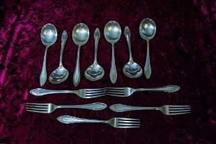 Vintage Gorham Sterling Silver lot of 7 spoons 5 Forks
