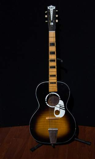 1960's Vintage Kay Parlor Guitar Made in USA
