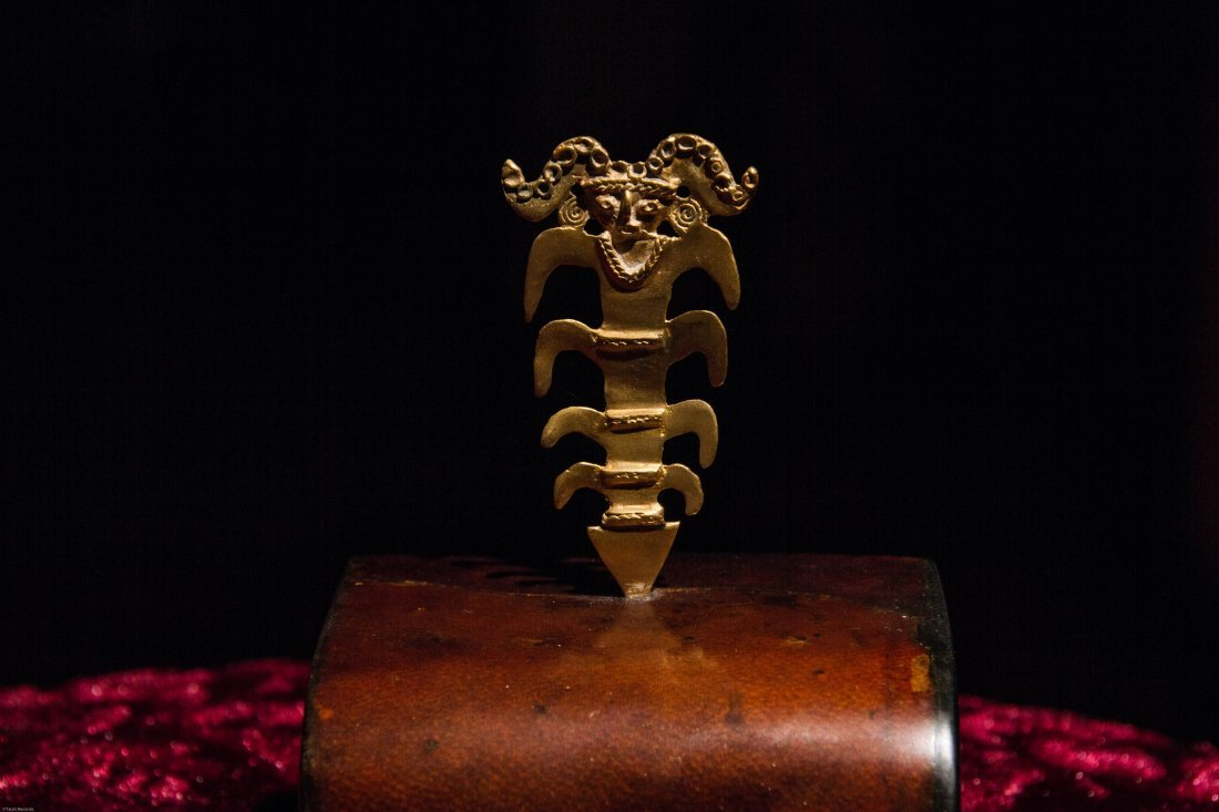 Pre Columbian Reproduction 24k Gold Plated Mitus