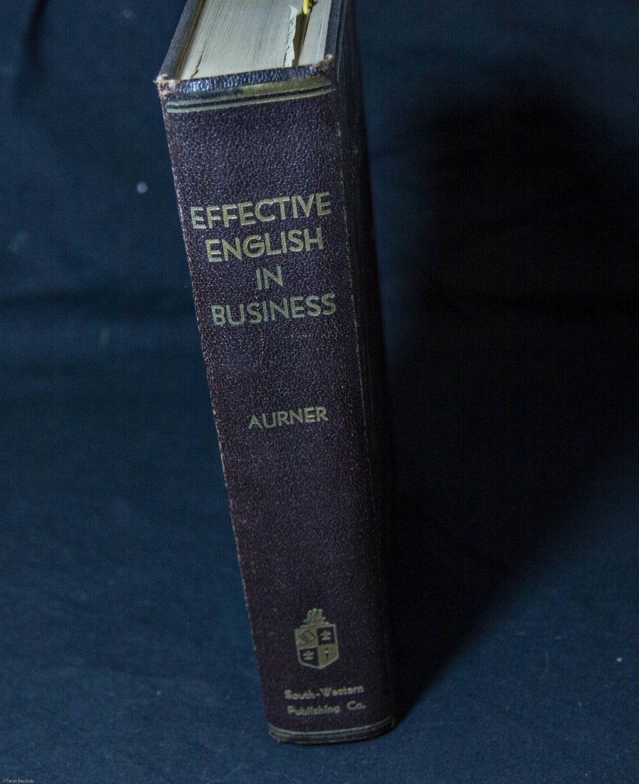 1935 Effective English in Business R R Aurner Hardcover