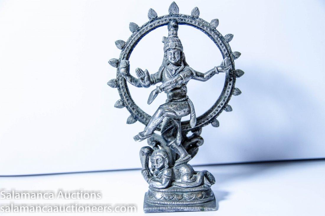 Dancing Shiva Silver Statue,  est 18th /  19th Century