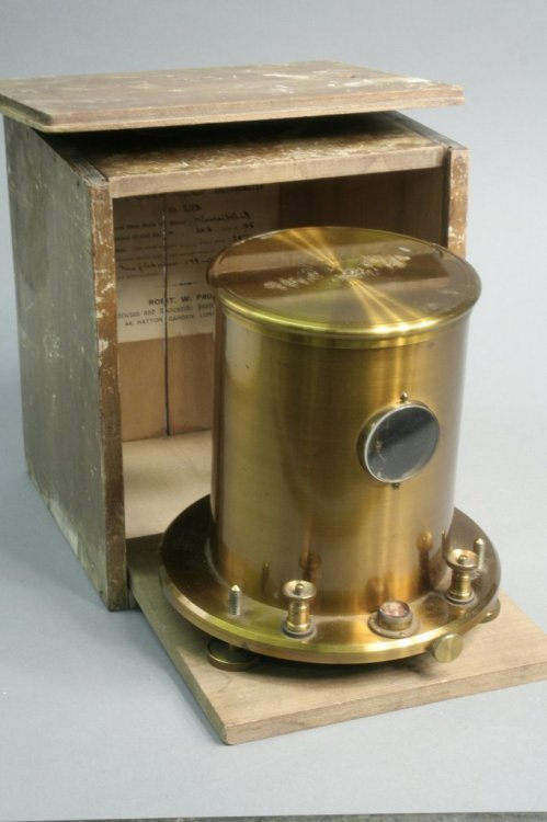 23: A galvanometer, 1892, portable in wood case