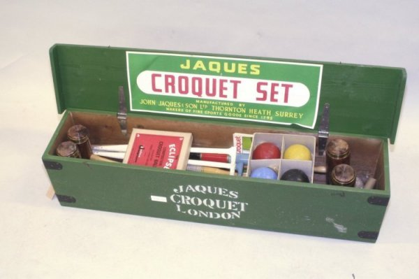24: A Jaques of London croquet set