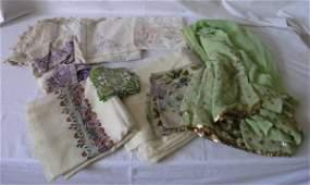 133: Two early 20th century ivory Kashmir shawls, sar a