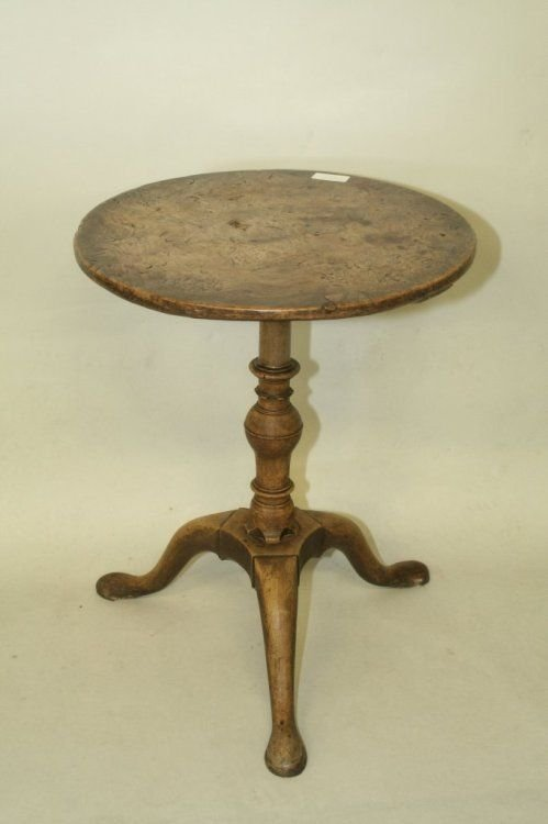 695: An early George III burr elm and walnut wine table