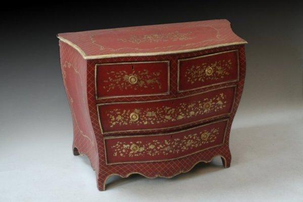 705: An 18th century Dutch bombe chest