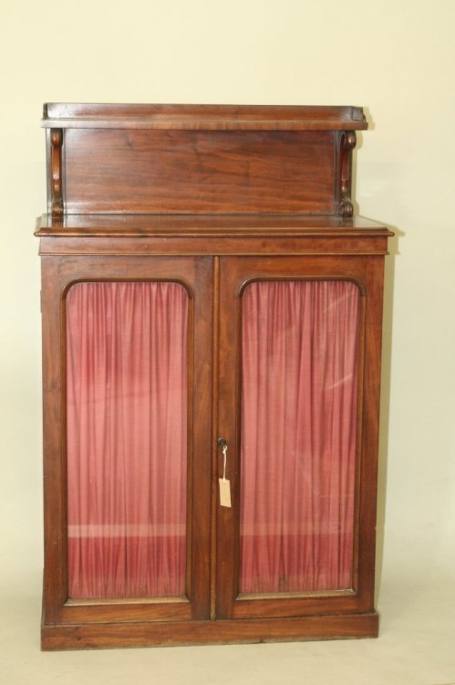 706: A Victorian mahogany chiffonier, 2ft 11ins