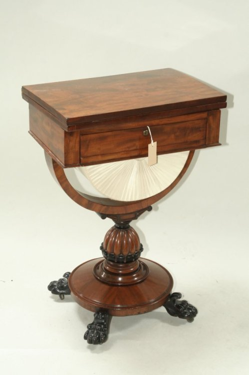 708: A Victorian mahogany games / work table, 1ft 9ins