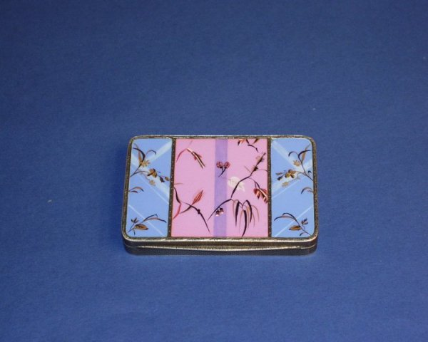 1205: A Continental silver and enamel box, 3.25ins