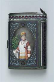 1348: A 19th century Russian 91 Zlotnik and champleve c