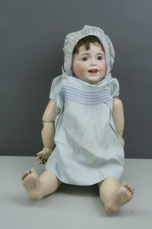 4: A large SFBJ bisque doll, 26in.