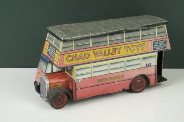 24: A Chad Valley double-deck biscuit bus, 10in. - fade