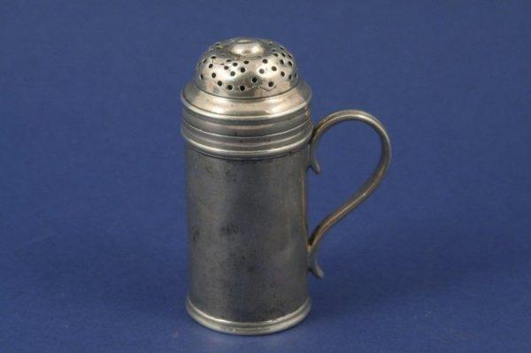 1287: A George II silver kitchen pepper, 3.25ins