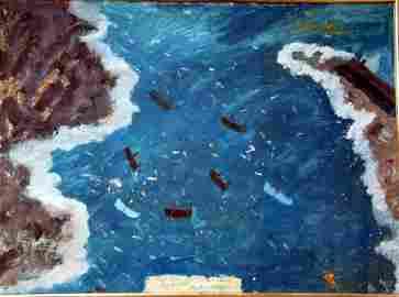 2162: James Dixon (1887-1970) Gut Fishing in the Camus