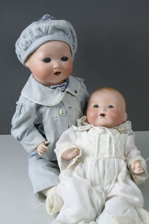 1: An Armand Marseille 'My Dream Baby' doll and another