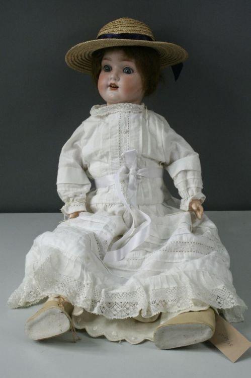 3: A German bisque doll, 23ins