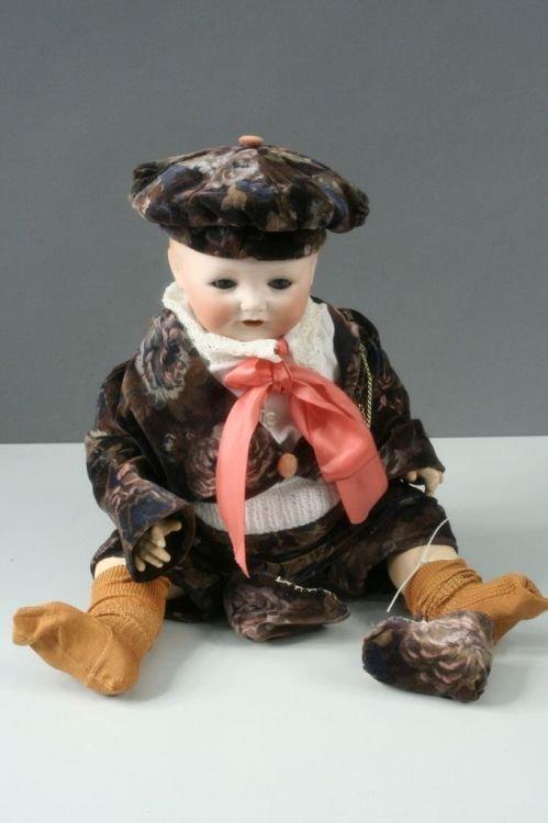 6: A Heubach Koppelsdorf bisque boy doll, 19ins