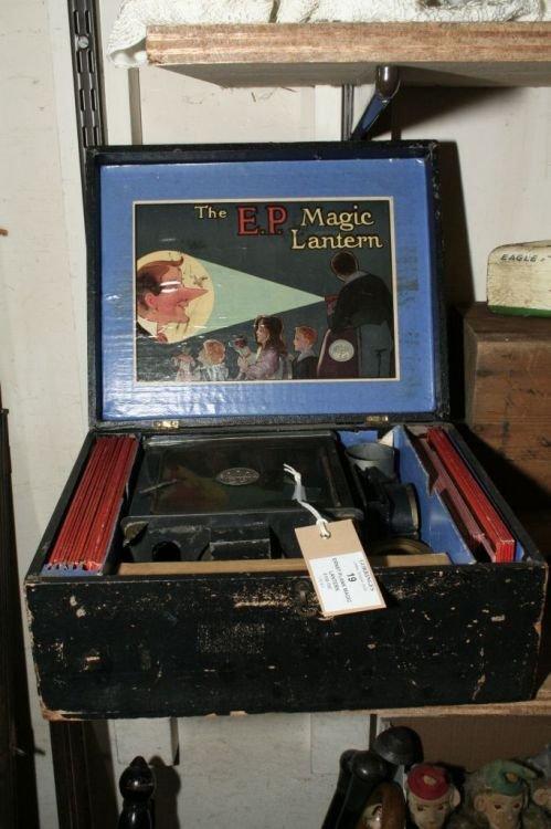 19: An Ernst Plank magic lantern, box 11.5ins