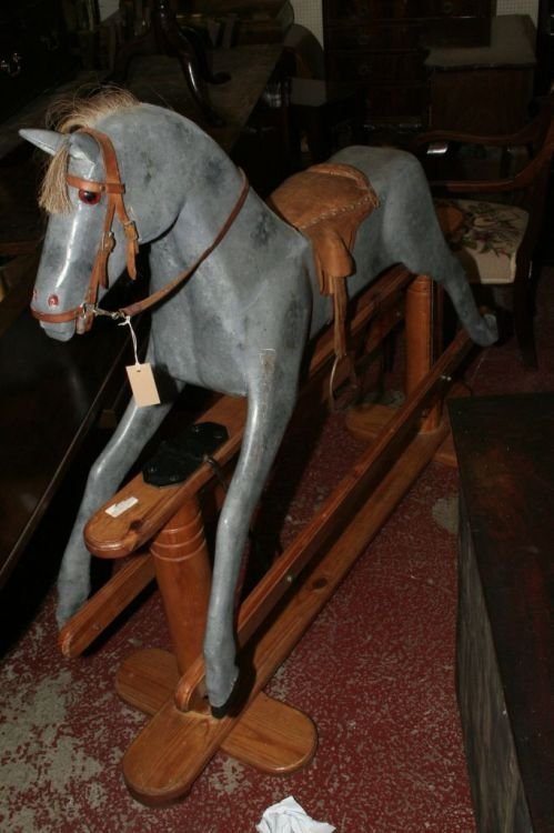 22: A 1960's rocking horse, 5ft