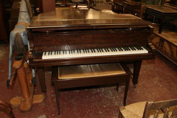 886: A Rogers of London mahogany baby grand piano, 4ft