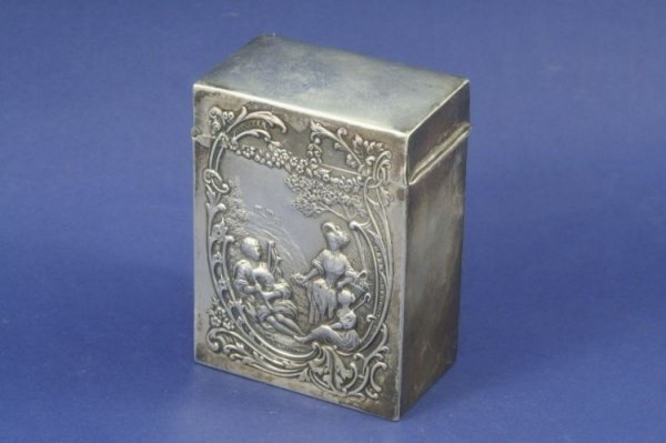 1475: A late Victorian silver 'twin pack' playing card