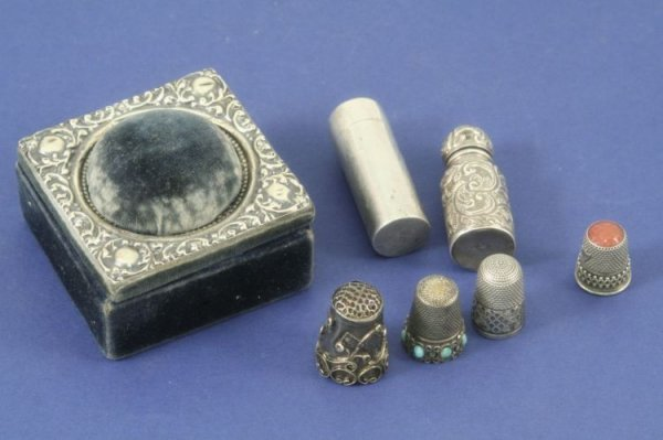 1495: Two Victorian silver scent bottles and stoppers,