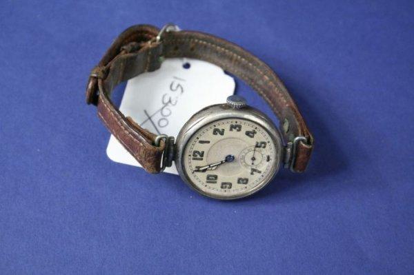 1683: A 1920's Longines silver wrist watch,