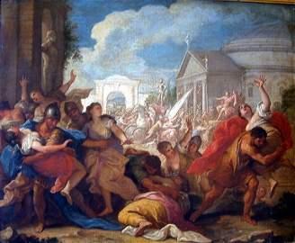 2428: 19th C. Italian School Rape of the Sabine Women 2
