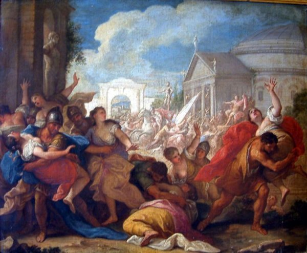 2428: 19th C. Italian School Rape of the Sabine Women 2