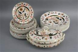 575 A Victorian Ashworth Brothers ironstone dinner ser