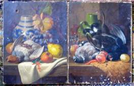 2649: Charles Thomas Bale (fl.1866-75) Still lifes of g