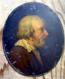 3001: 17th C. Dutch School Portrait of a gentleman 4.5