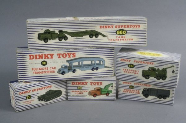 11: Dinky Toys, six total, good-excellent