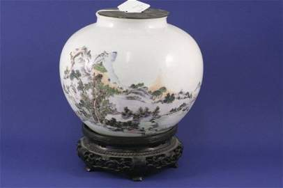 349: A late 19th century Chinese vase, 7ins