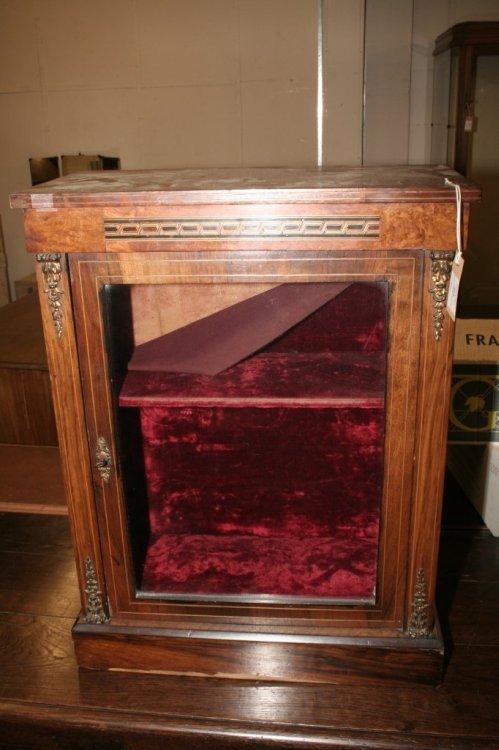 594: A Victorian walnut miniature bookcase, height 2ft