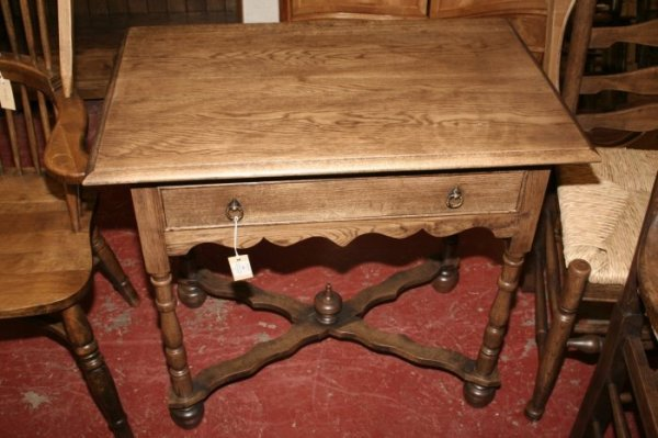 599: A Charles II style oak side table, 2ft. 3ins.