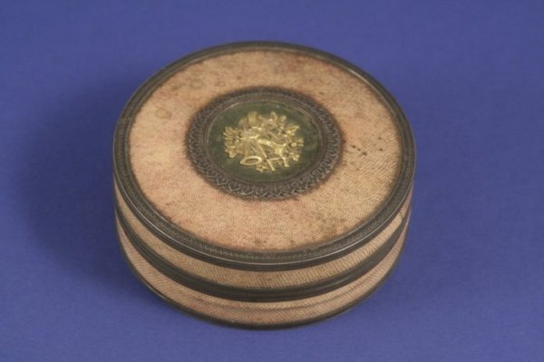 1030: A 19th century French silver and shagreen circula