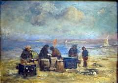 1396: George Boyle (Exh. 1880-95) Fisherfolk on the sho