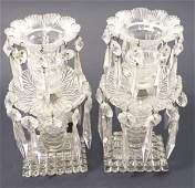 415 A pair of Victorian glass table lustres 95in