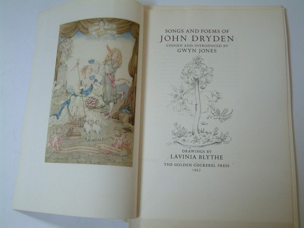 1185: DRYDEN (J), Songs and Poems of John Dryden,
