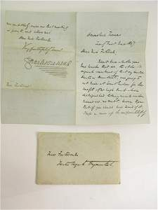 1297: DICKENS (CHARLES), A signed and dated letter from