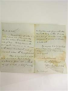1298: DICKENS (CHARLES), A signed and dated letter from