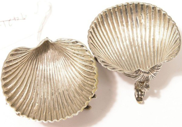 1336: A pair of Victorian silver salts,
