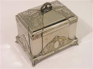 A WMF silver plated tea caddy, 4.75ins