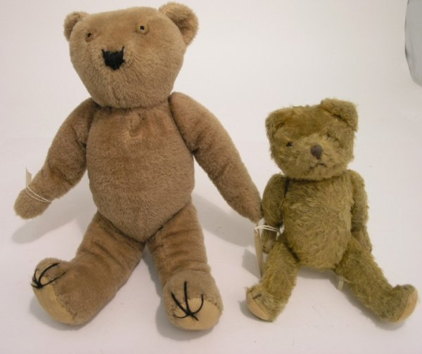 4: A pre-war Teddy bear and another