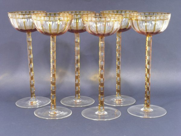 755: Otto Prutscher - a set of 6 glasses designed for t