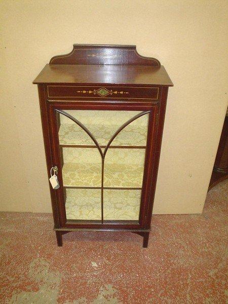 844: An Edwardian mahogany display cabinet, 2ft